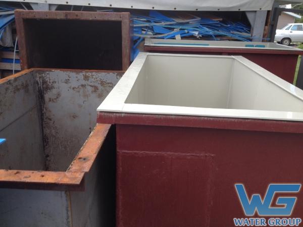 Вкладыши из пластика для металлических емкостей