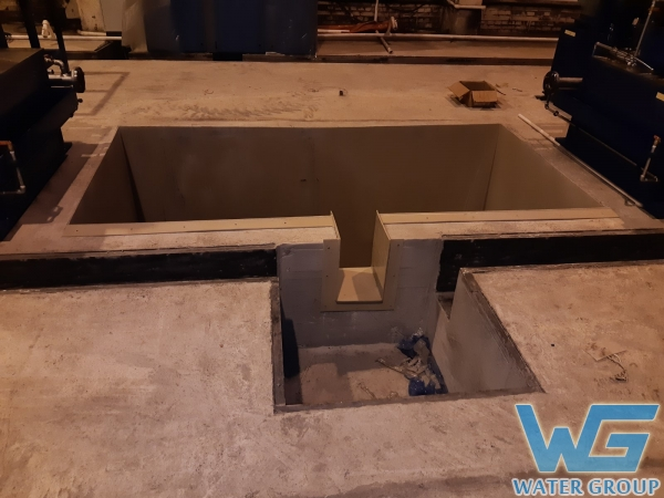 Футеровка бетонной емкости пластиком