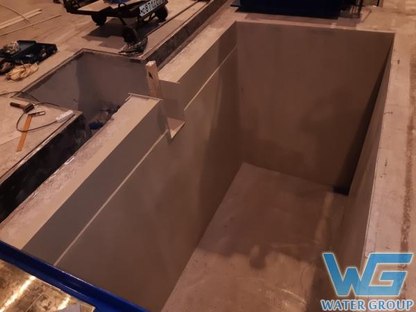 Футеровка бетонной ванны полипропиленом