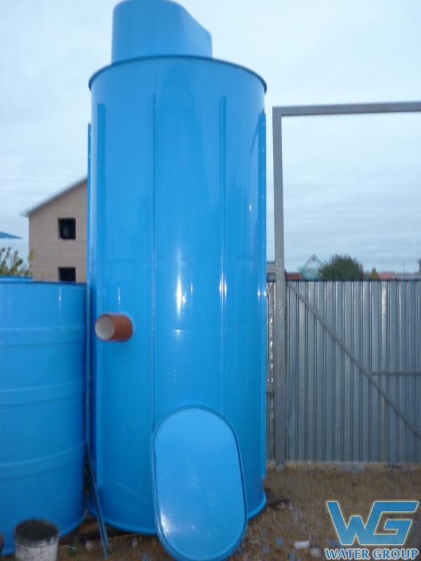 Колодец из пластика для перекачки сточной воды производства Ватер Групп г. Челябинск