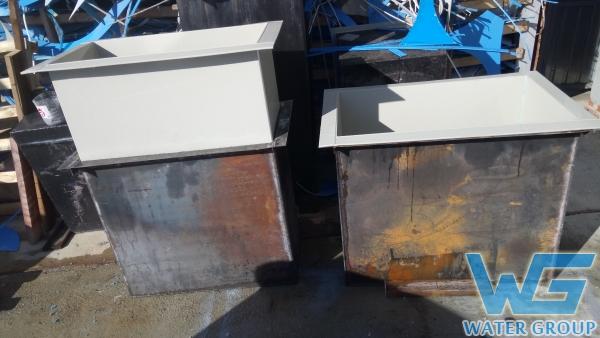 Футеровка пластиком гальванических ванн из металла