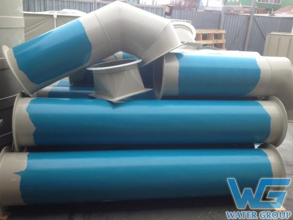 Пластиковые воздуховоды круглого сечения на этапе производства