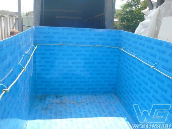 Бассейн из пластика под ключ