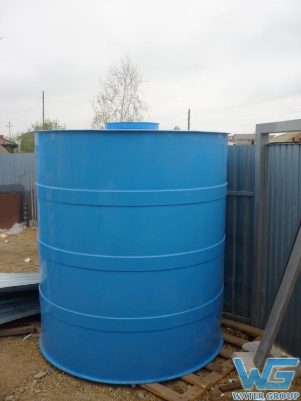Емкость круглой формы для хранения воды