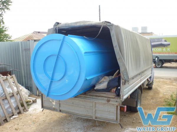 Пластиковый резервуар-вставка в железобетонный колодец производства Ватер Групп г. Челябинск