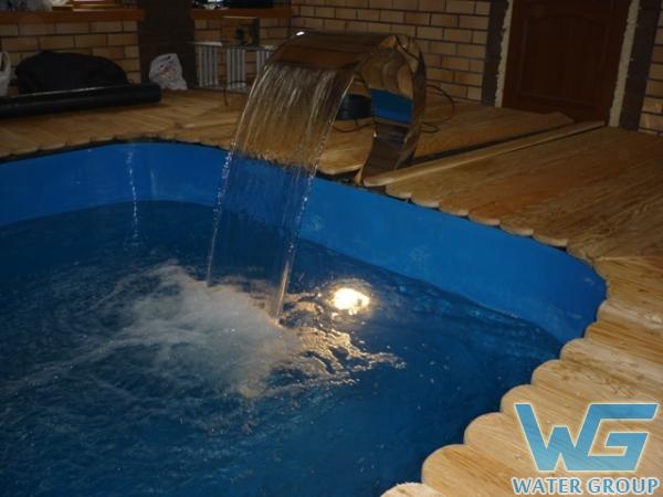 Монтаж бассейна-купели