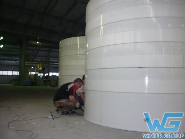 Изготовление по месту резервуаров из пластика для хранения запаса воды